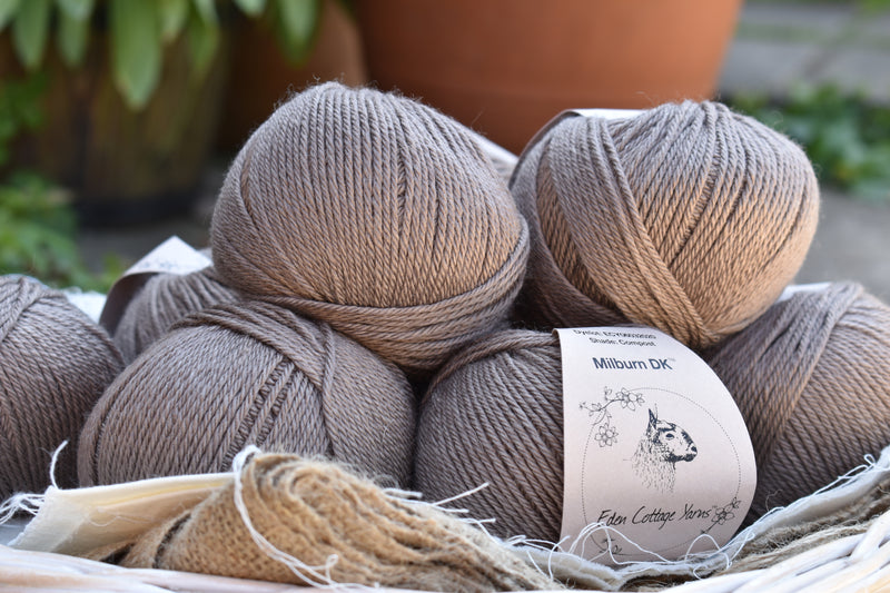 Milburn DK™ British Bluefaced Leicester/Silk in Compost; 50g ball