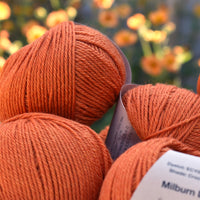 Milburn DK™ British Bluefaced Leicester/Silk in Crocosmia; 500g pack