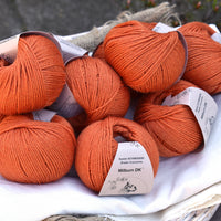 Milburn DK™ British Bluefaced Leicester/Silk in Crocosmia; 50g ball