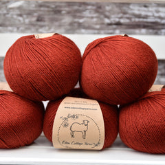 Milburn 4ply British Bluefaced Leicester/Silk in Dogwood; 500g pack