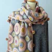 Magic Circles crocheted scarf by Jane Crowfoot: Yarn pack & pattern