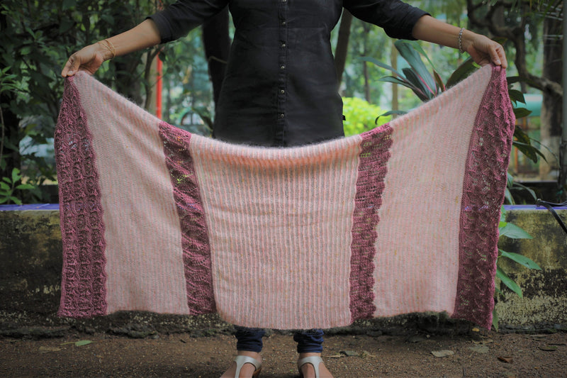 Ode to Autumn by Jayalakshmi: knitted shawl kit
