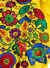 Long embroidered Boho style kaftan