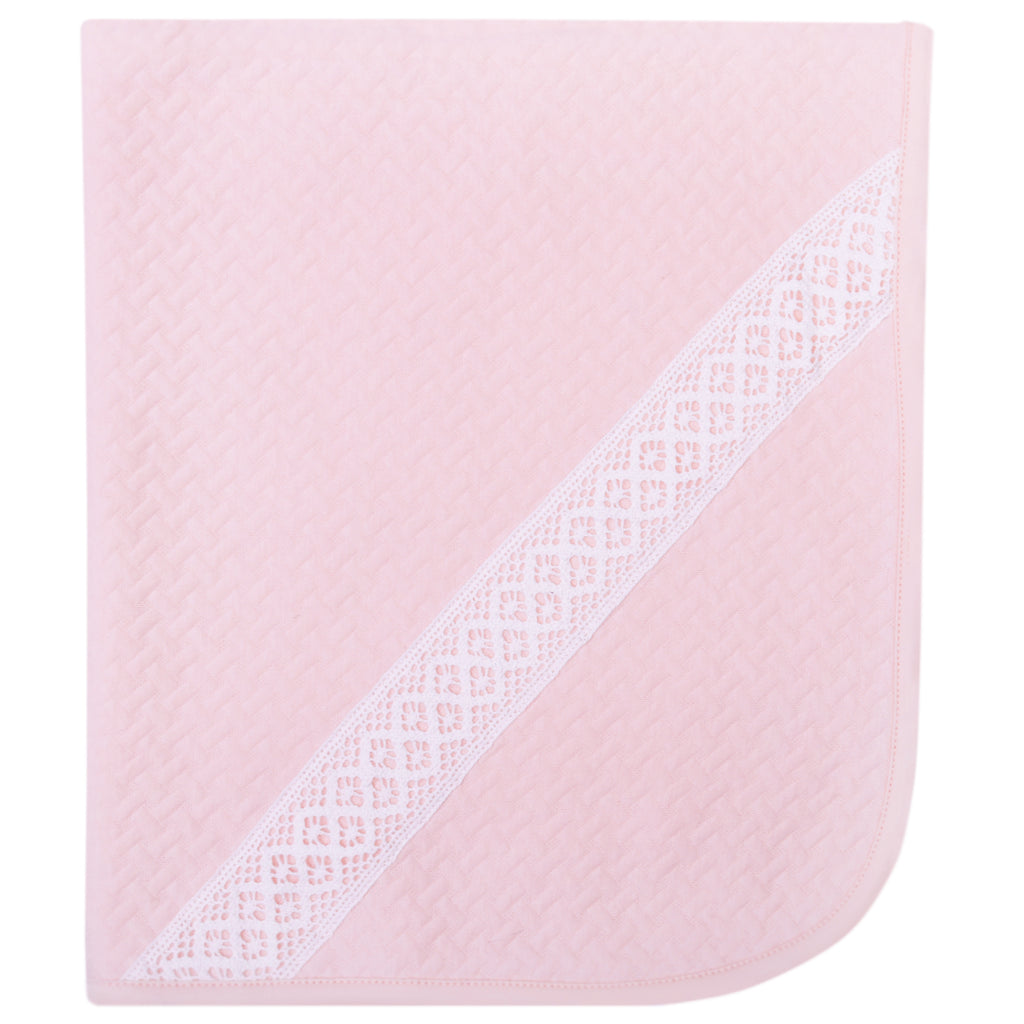 Bobble Babies Pima Cotton Blanket - Pink