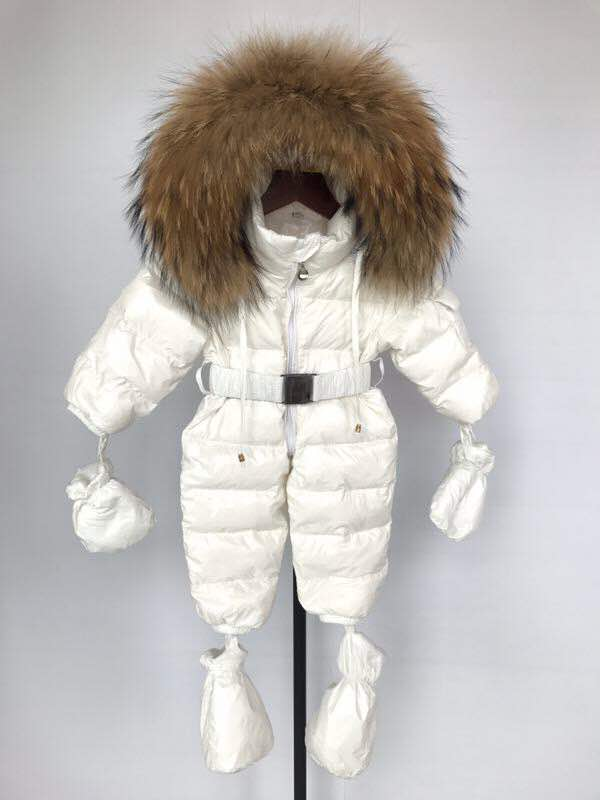 Bobble Babies Snowsuit- Winter white