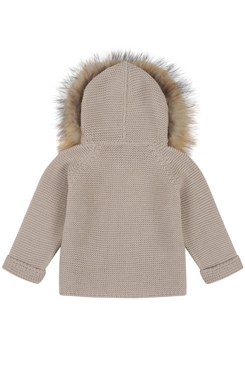 Bobble Babies knitted jacket in Oatmeal