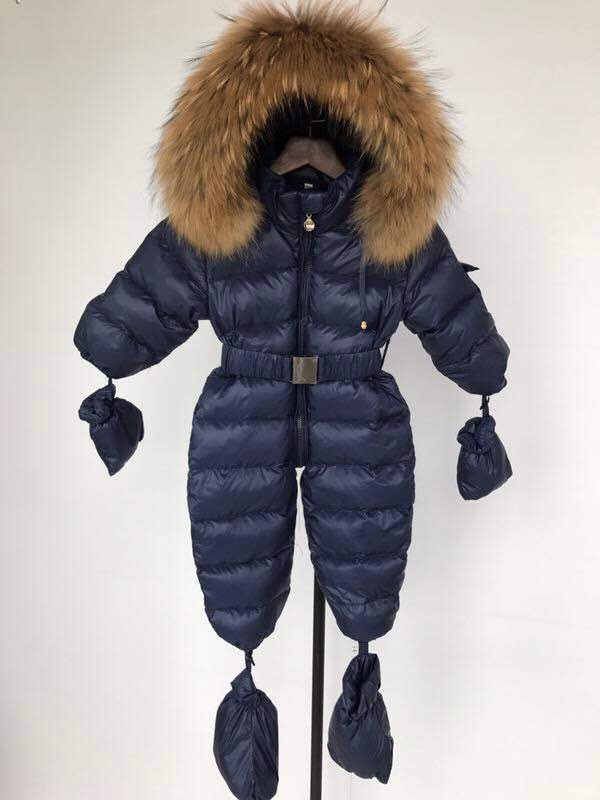 Bobble Babies Snowsuit- Navy Blue
