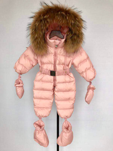 Bobble Babies Snowsuit- Candy Pink