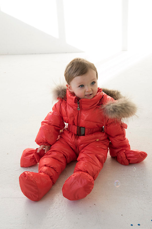 Bobble Babies Snowsuit- Red