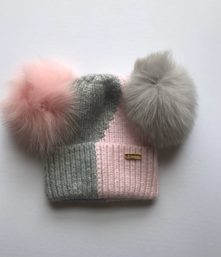 Bobble Babies Vice Versa Double Pompom hat