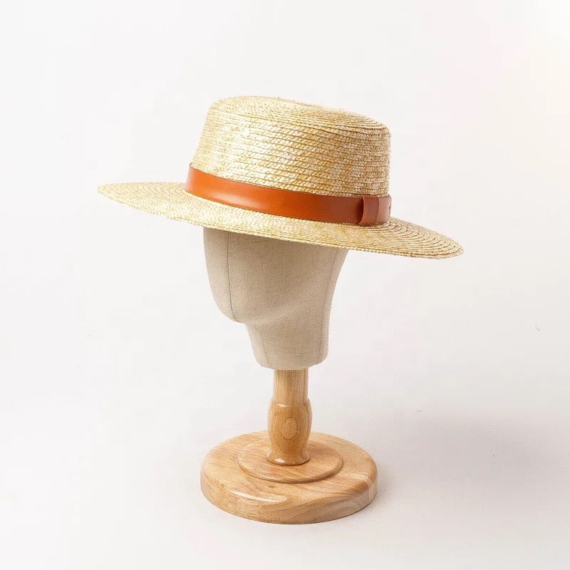 Straw CARDEN Boater hat
