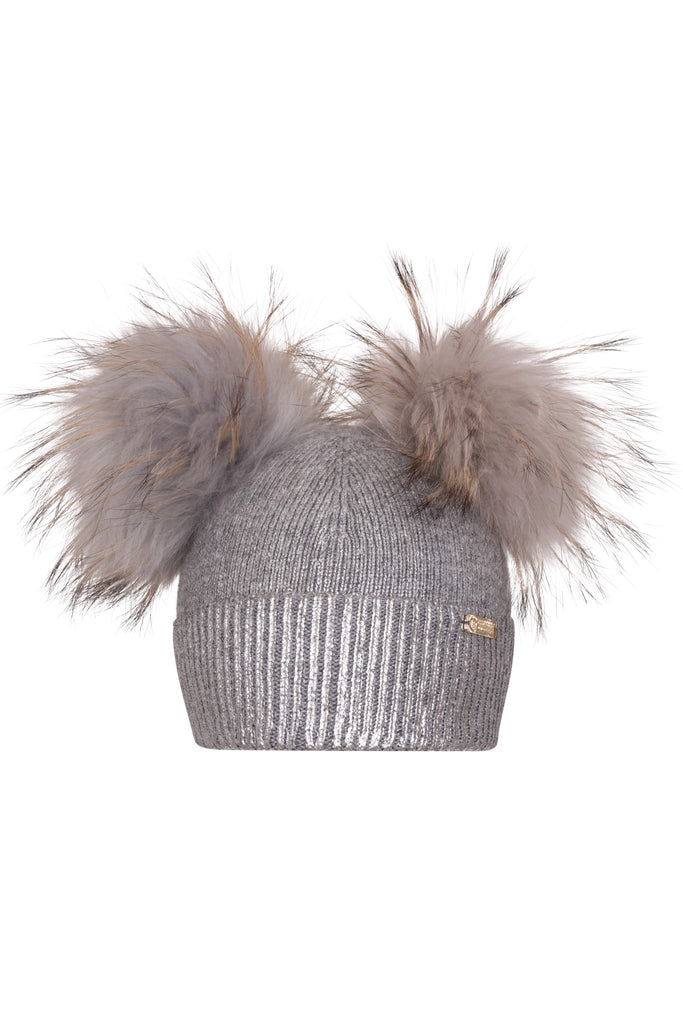 Bobble Babies Foila pompom hat / Grey