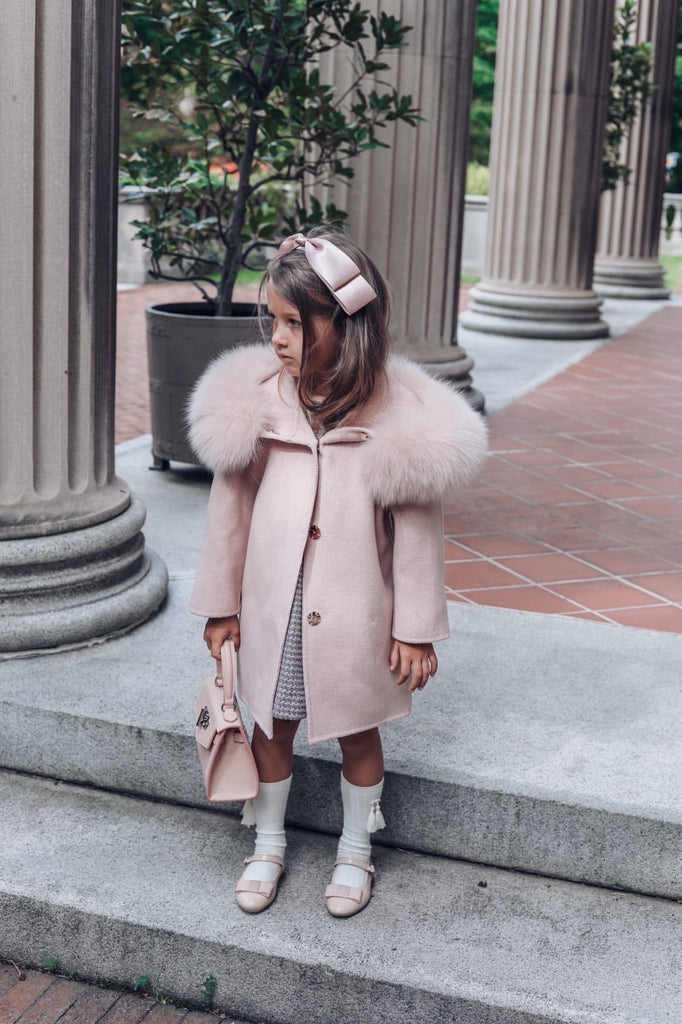'ELLA' cashmere coat / BLUSH