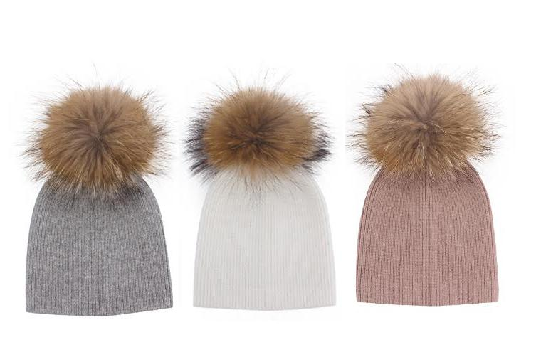 Angora 'Oakley' Single Pompom hat