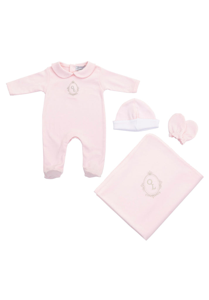 Personalised baby gift set / PINK