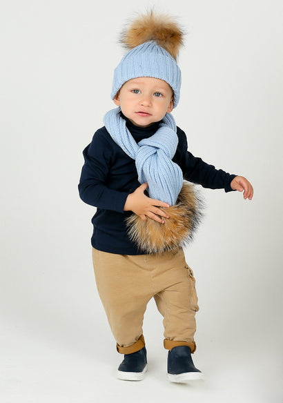 Baby Blue Hat & Scarf Set