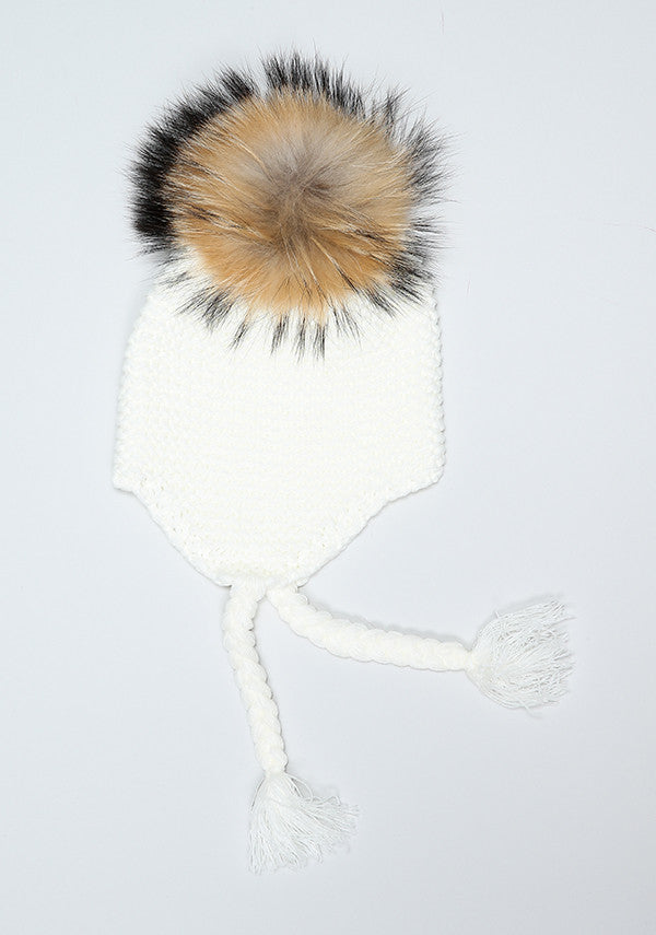 Winter White Bomber Hat
