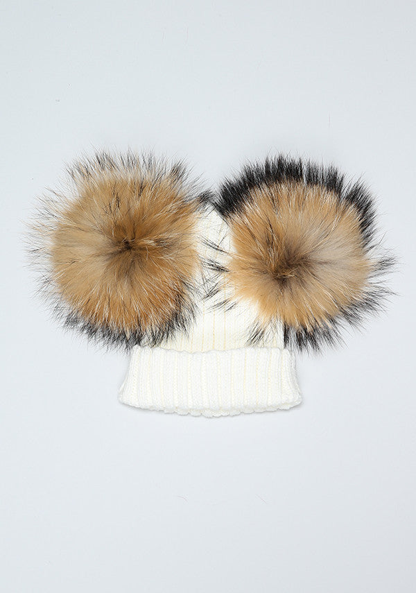 Winter White Double Hat & Scarf Set