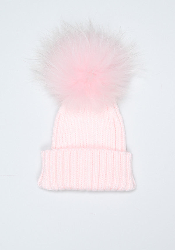 7ef5c8afb7c34 Baby Children baby pink with fur pom pom- Bobble Babies – Bobblebabies