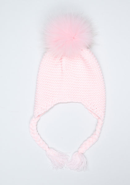 Baby Pink Bomber Hat