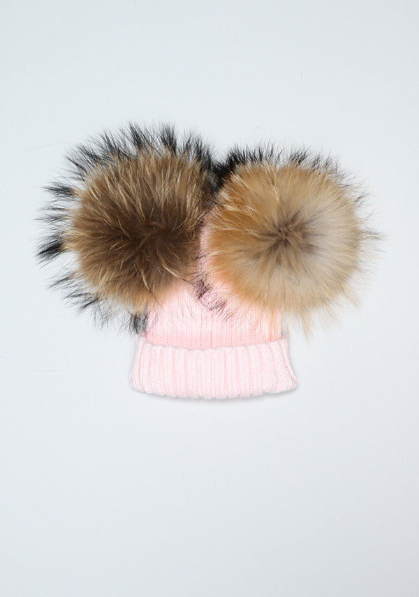 3073c4132 Candy Pink Double PomPom Hat