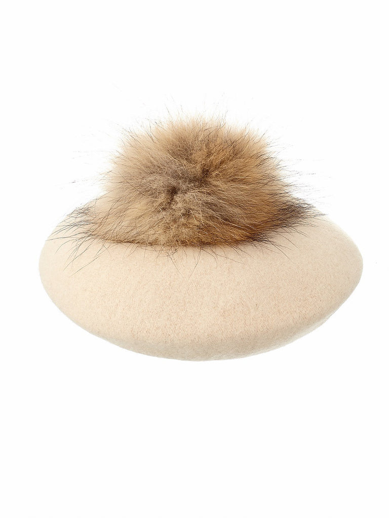 Pompom Beret in Butterscotch