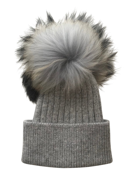 Luxe Angora Hat- LIGHT GREY