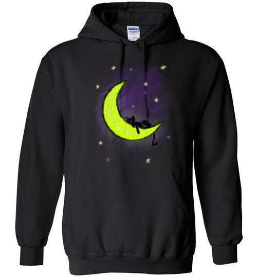 Cat Sleeping on the Moon Hoodie - Our Exclusive Design - Love Kitty Cat