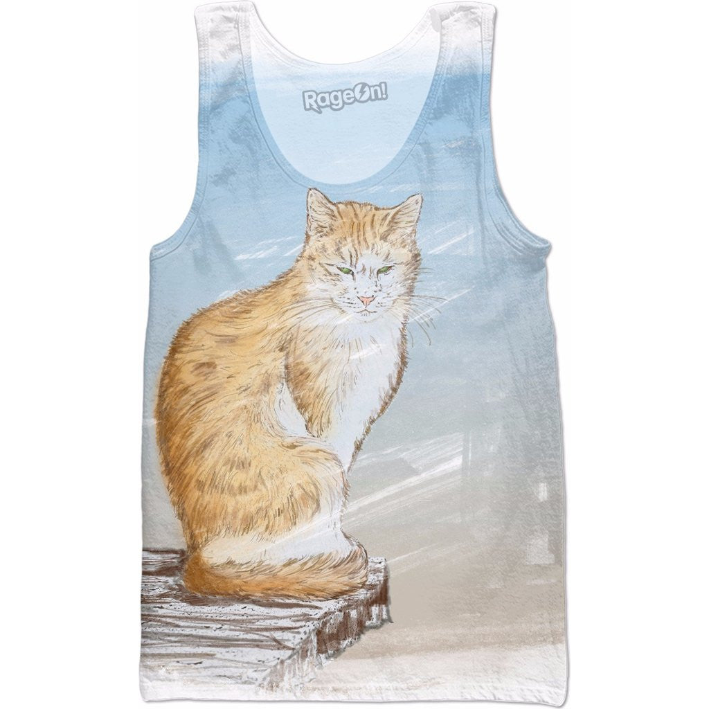 Wild Cat on the Edge of  the Mountain Tank Top - Love Kitty Cat