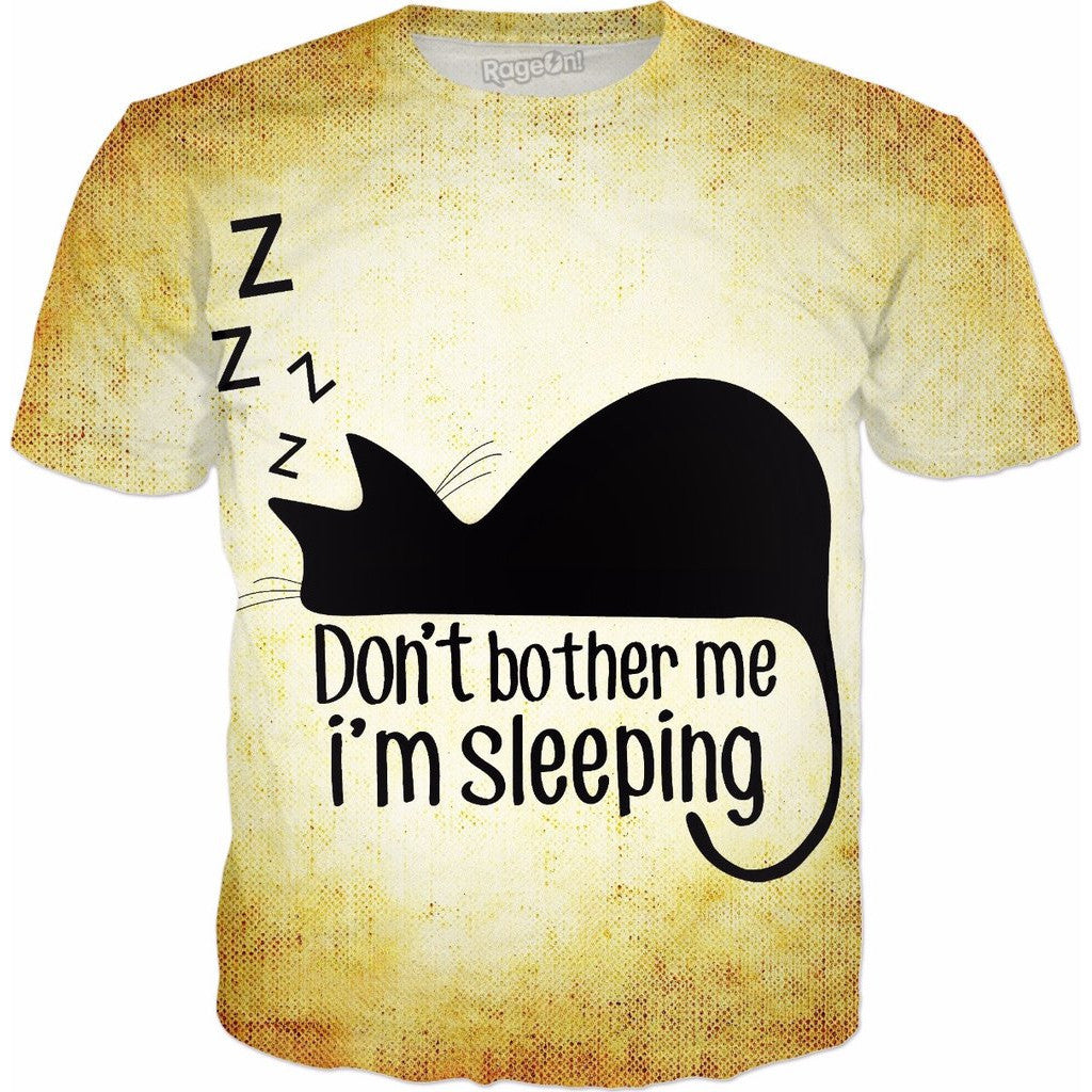 Don't Bother Me I'm Sleeping Cat All-Over-Print Shirt - Love Kitty Cat