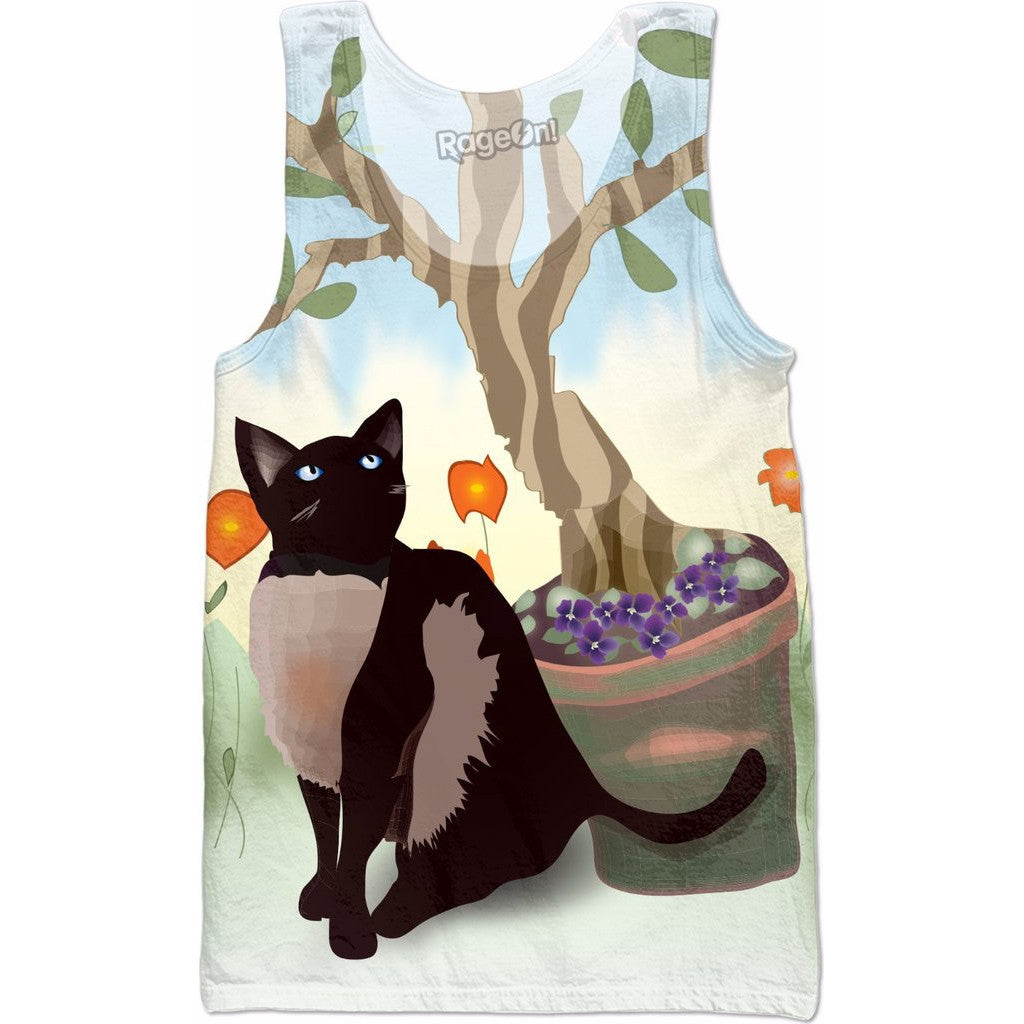 Summer Cat All-Over Print Women's Tank Top