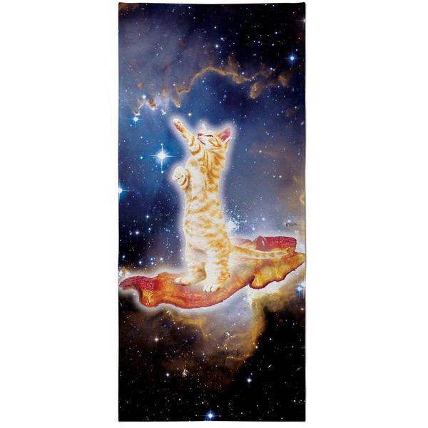 Bacon Cat All-Over-Print Beach Towel
