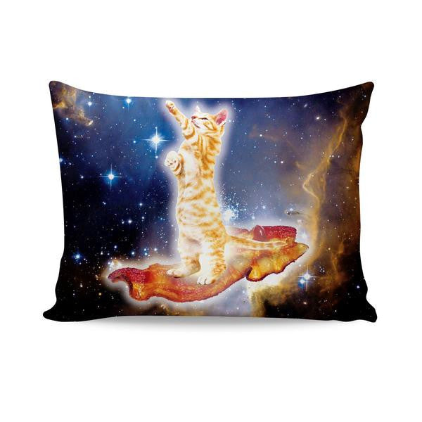 Bacon Cat All-Over-Print Pillow Case - Love Kitty Cat