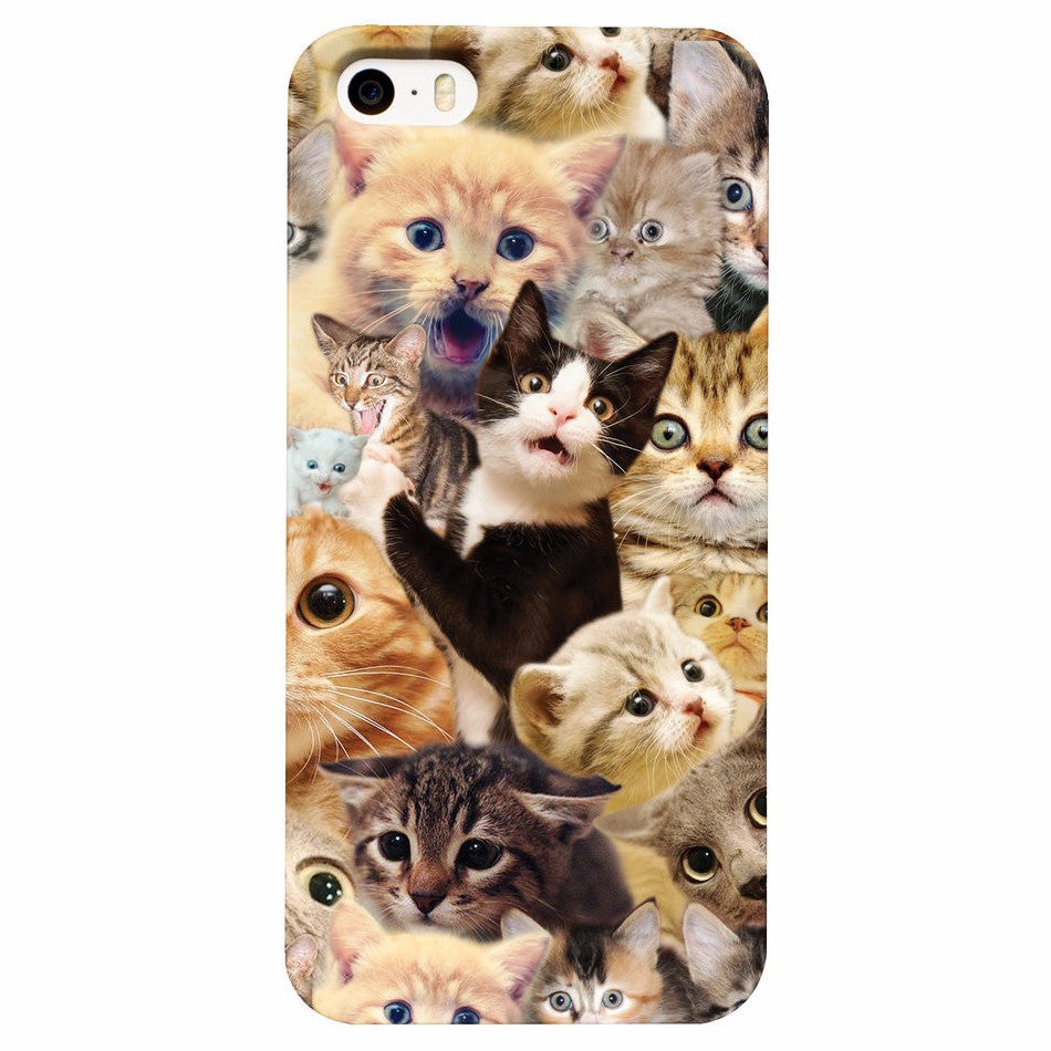 finest selection 5b835 cccf4 Surprised Cats All-Over Print Phone Case