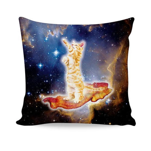 Bacon Cat All-Over-Print Couch Pillow - Love Kitty Cat