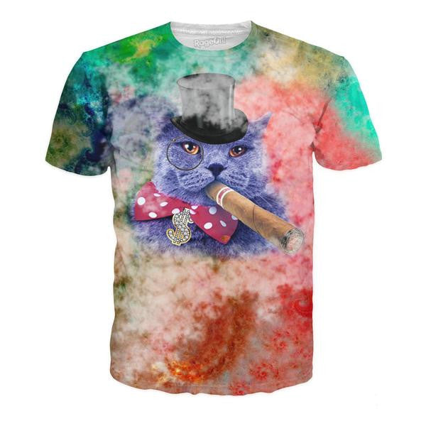 Cigar Cat All-Over-Print Unisex Shirt