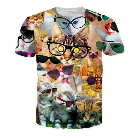 Cool Cats All-Over-Print Unisex T-Shirt