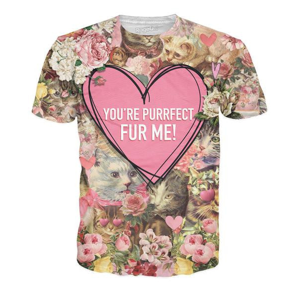 You're Purrfect Fur Me Cat All-Over Print Shirt - Love Kitty Cat