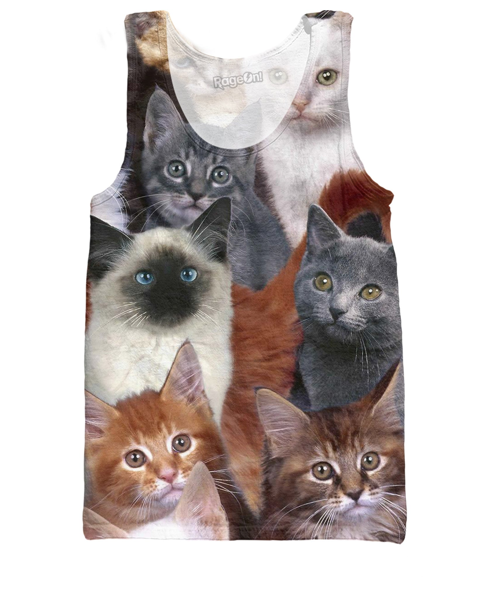 Cats Collage All-Over Print Tank Top - Love Kitty Cat