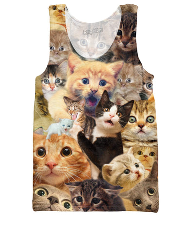 Surprised Cats Tank Top - Love Kitty Cat