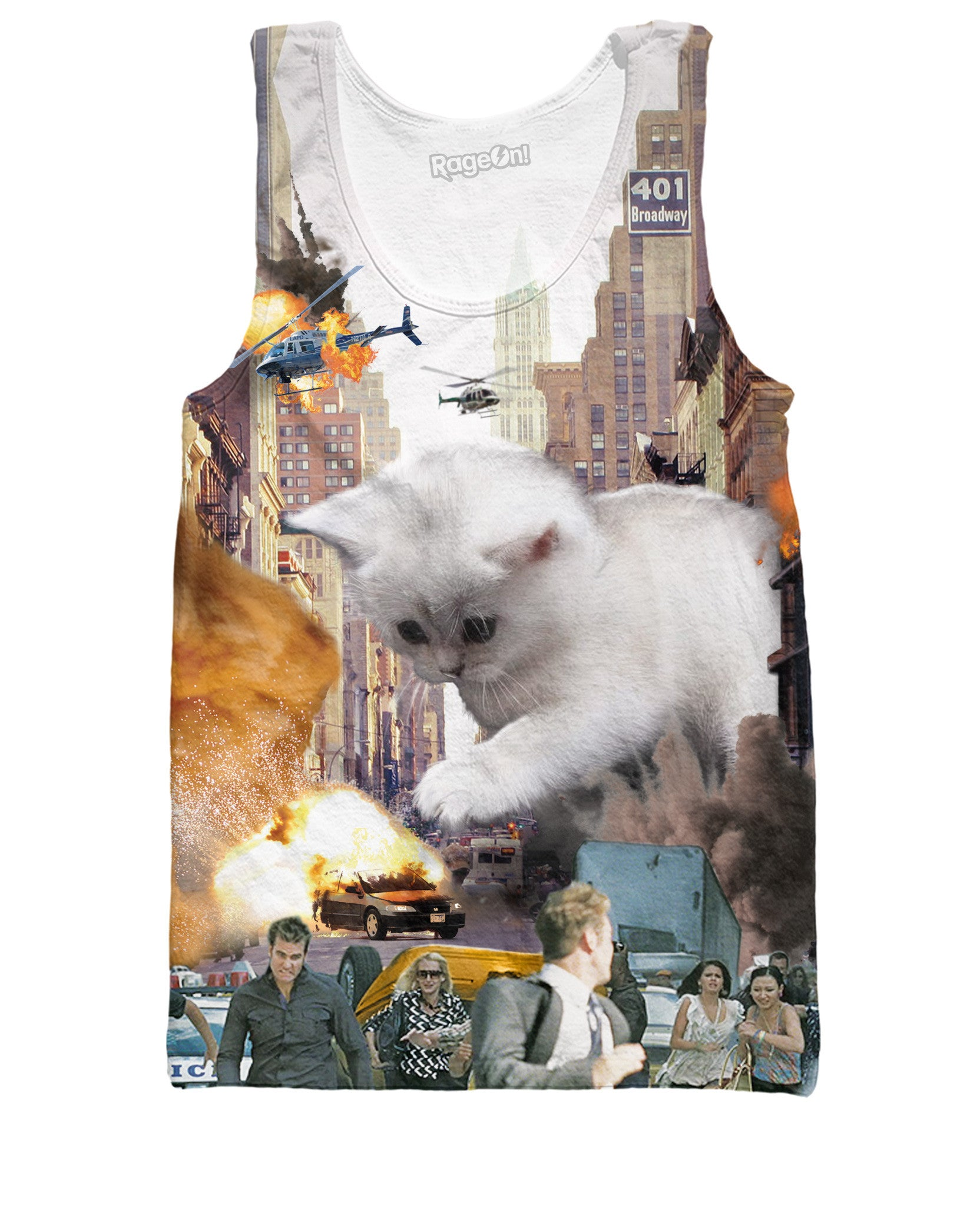 Rampage Cat All-Over Print Tank Top - Love Kitty Cat