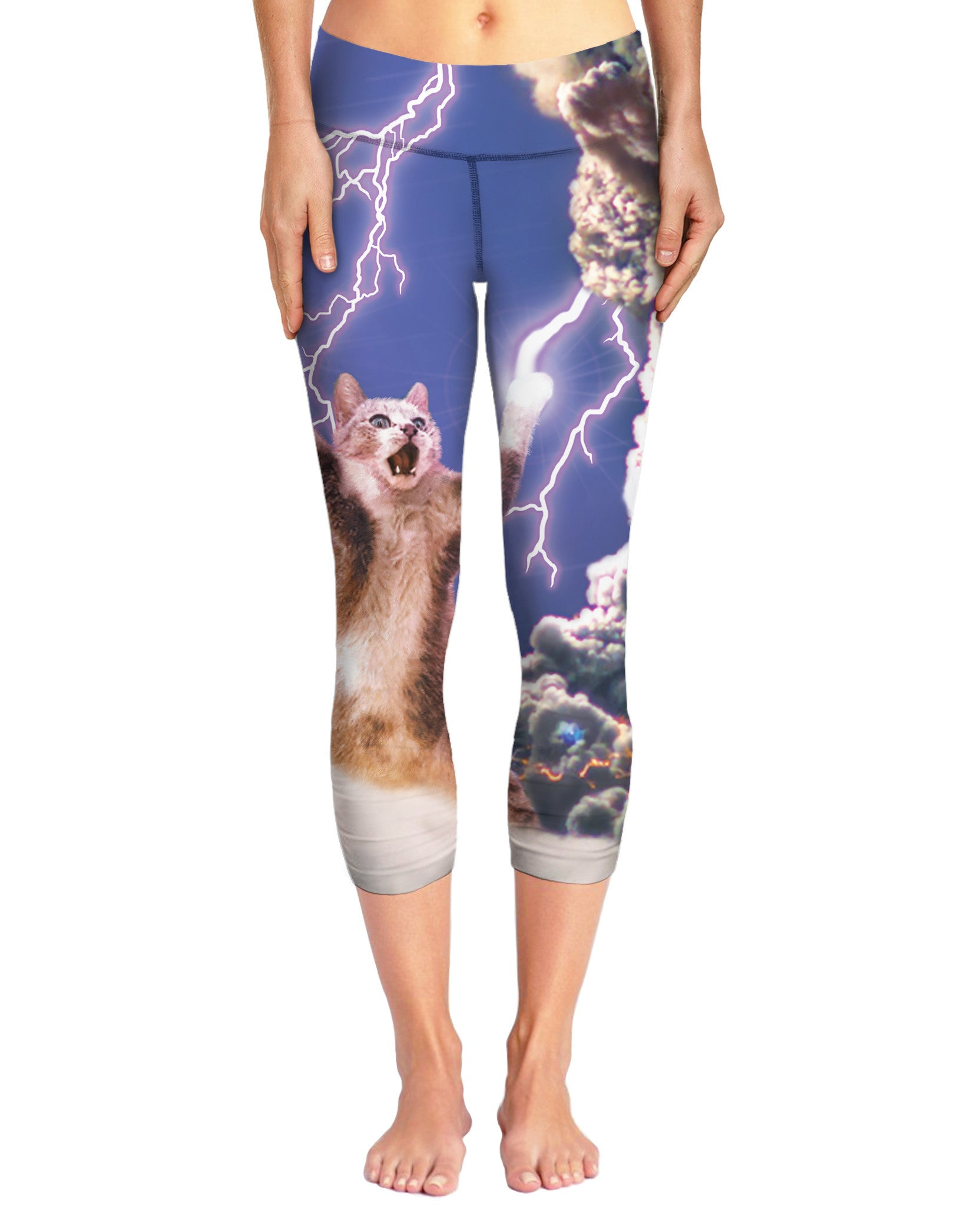 Thundercat All-Over Print Capri Yoga Pants - Love Kitty Cat