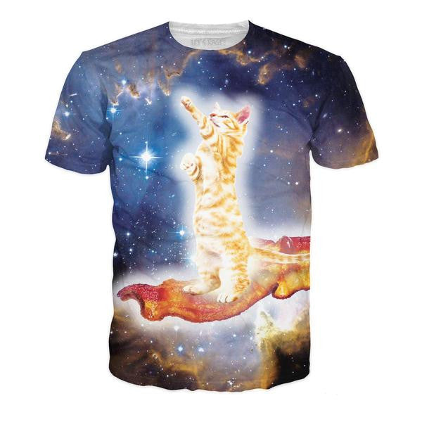 Bacon Cat All-Over-Print Unisex T-Shirt - Love Kitty Cat