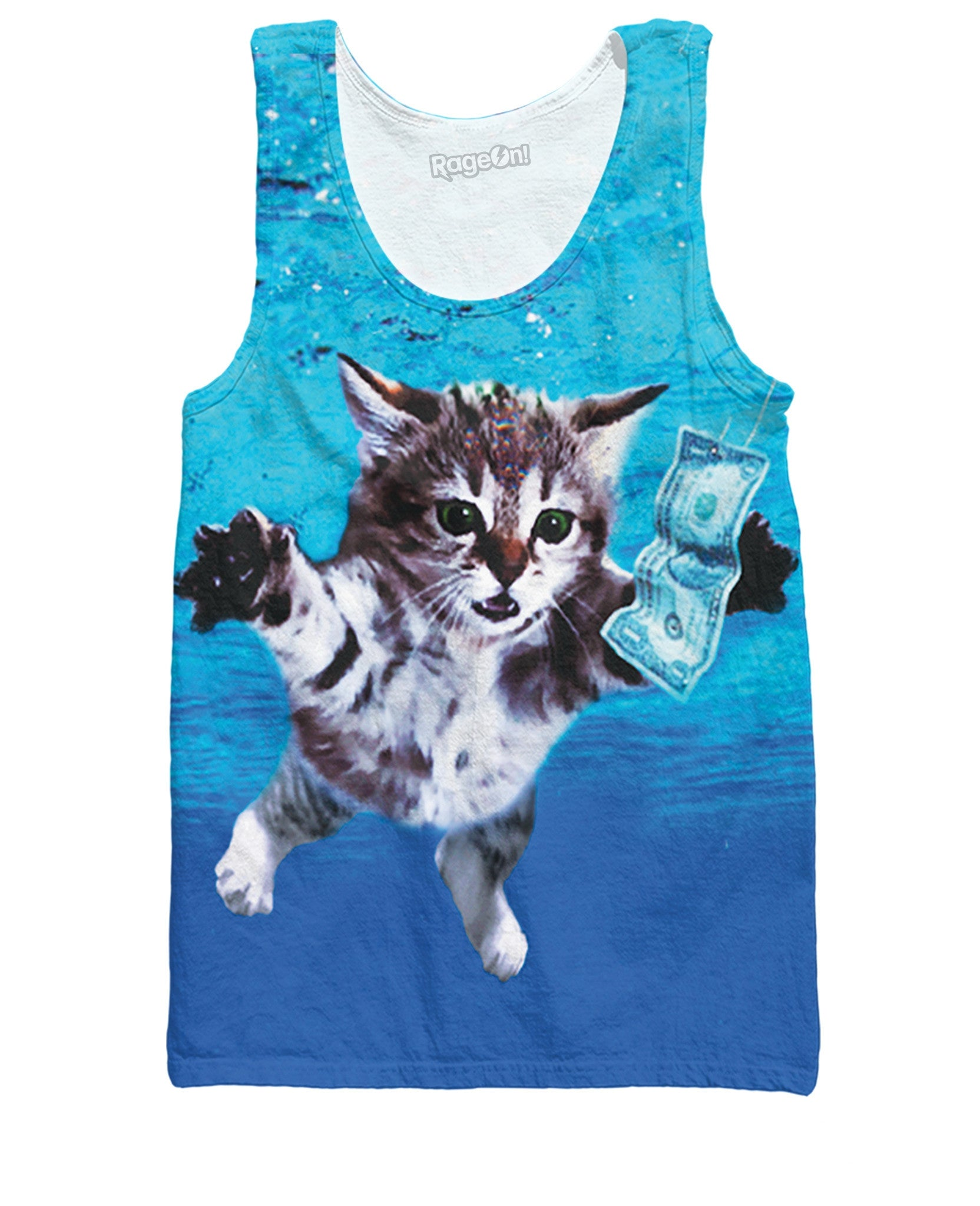 Cat Cobain All-Over Print Tank Top - Love Kitty Cat
