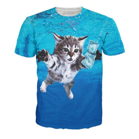 Cat Cobain All-Over Print Unisex T-Shirt