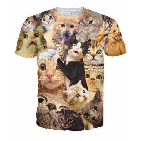 Surprised Cats All-Over Print Shirt - Love Kitty Cat