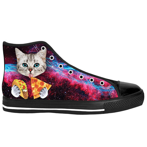 Taco Cat Black Sole High Tops - Love Kitty Cat