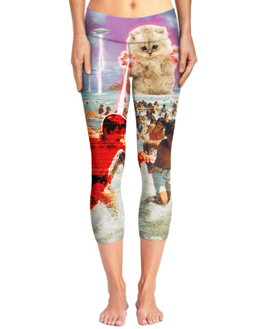 The Kitten No One Loved All-Over Print Capri Yoga Pants - Love Kitty Cat
