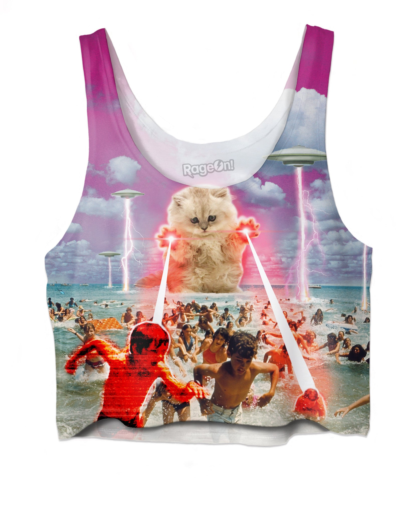 The Kitten No One Loved All-Over Print Crop Top - Love Kitty Cat