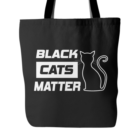 Black Cats Matter Tote Bag - Our Exclusive Design - Love Kitty Cat